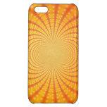 Arte anaranjado y amarillo del fractal