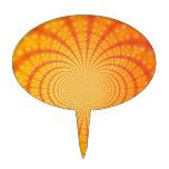 Arte anaranjado y amarillo del fractal palillos de tarta