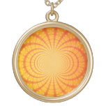 Arte anaranjado y amarillo del fractal joyerias
