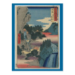 Arte-Ando japonés Hiroshige 3 del Postal-Vintage
