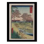 Arte-Ando japonés Hiroshige 8 del Postal-Vintage