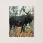 Arte animal de la fauna del parque de los árboles  rompecabeza