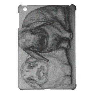 Arte animal de la tiza del conejo del dibujo del