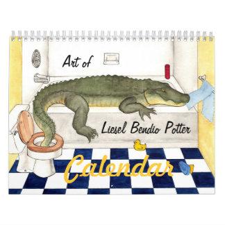Arte animal del alfarero de Liesel Bendio Calendario