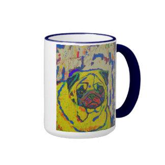 Arte animal del perro del extracto de la taza del
