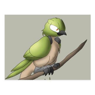 Arte animal híbrido aviar del reptil reptil del postal