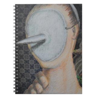 Arte anónimo del forastero del extracto del libreta espiral