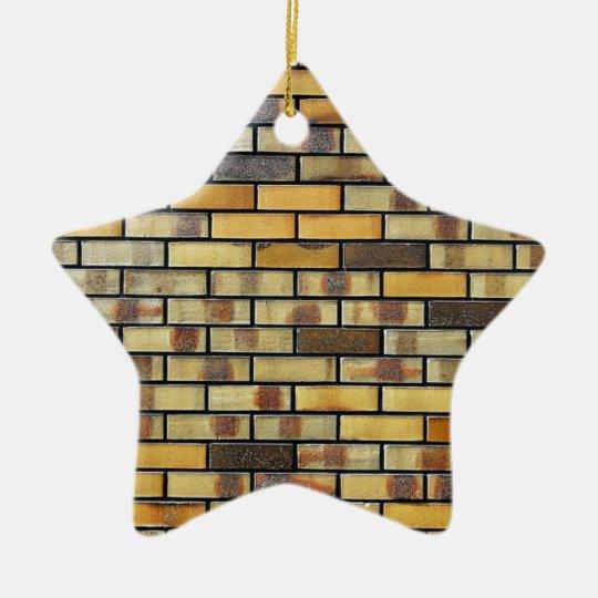 Arte antiguo abstracto de la moda del estilo de adorno navideño de cerámica en forma de estrella