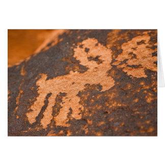Arte antiguo de la roca tarjeta de felicitación