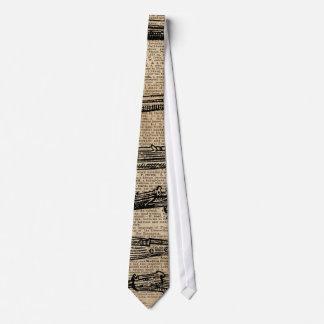 Arte antiguo del diccionario de los armas de las corbata personalizada