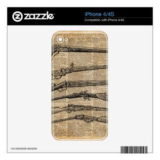 Arte antiguo del diccionario de los armas de las iPhone 4S calcomanías
