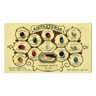 Arte antiguo del joyero de la joyería de tarjetas de visita