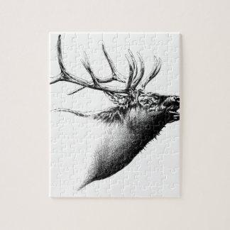 Arte antiguo del macho que dibuja la naturaleza rompecabezas con fotos