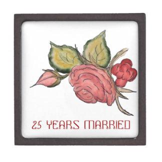 Arte antiguo del rosa rojo cajas de joyas de calidad