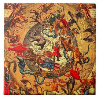 Arte antiguo del vintage de la mitología de la ast azulejo