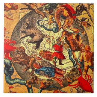 Arte antiguo del vintage de la mitología de la ast teja cerámica