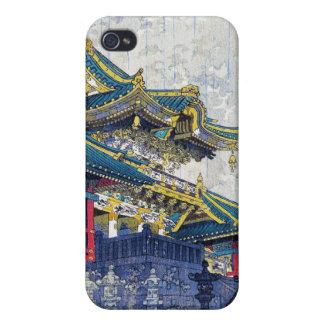 Arte antiguo fresco de la capilla de Shiro Kasamat iPhone 4 Fundas