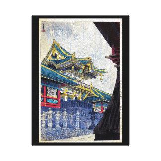 Arte antiguo fresco de la capilla de Shiro Kasamat Impresión En Lona