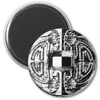 Arte antiguo imán redondo 5 cm