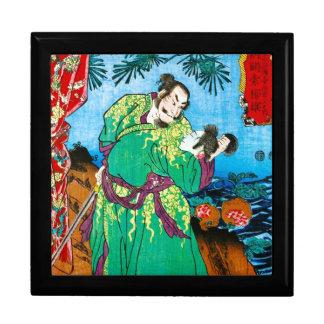 Arte antiguo legendario japonés oriental fresco de cajas de recuerdo