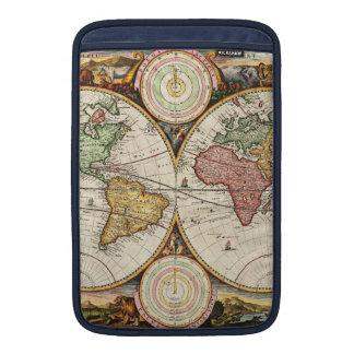 Arte antiguo raro de los hemisferios del mapa del fundas macbook air