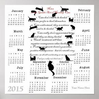 Arte apacible de reunir el calendario 2015 de los  póster