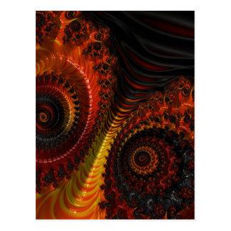 Arte apocalíptico del fractal de la belleza postales