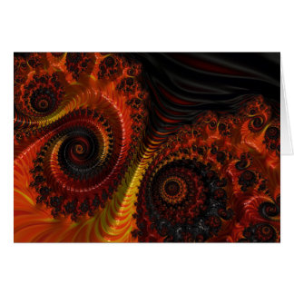 Arte apocalíptico del fractal de la belleza tarjeta de felicitación