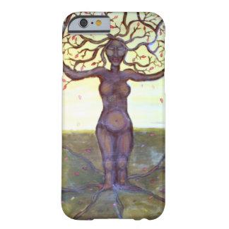 """Arte """"arraigado"""" de la fantasía de la diosa del funda de iPhone 6 barely there"""