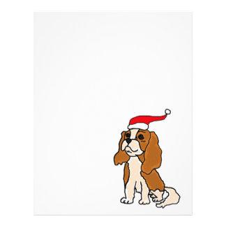 Arte arrogante del navidad del perro de aguas de membrete personalizado