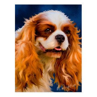 Arte arrogante del perro del perro de aguas de rey postal