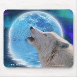 Arte ártico Mousepad de la fantasía del lobo y de  Alfombrillas De Raton