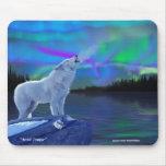 Arte ártico Mousepad de la fantasía del lobo y de  Tapete De Raton