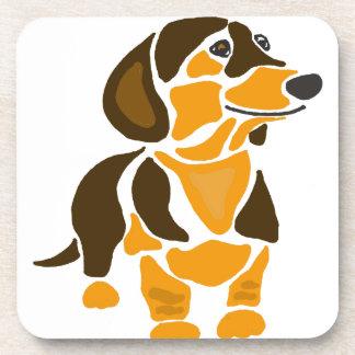 Arte artístico divertido del perro del Dachshund Posavasos