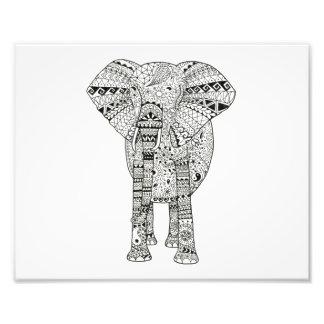 arte artsy ilustrado mano de la pluma del elefante fotografías