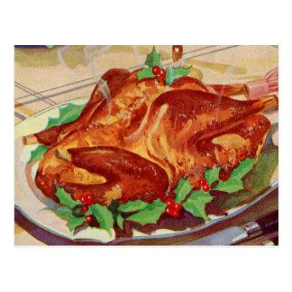 Arte asado kitsch retro del libro de cocina de Tur Postales