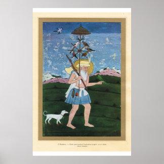 Arte asiático clásico Mughal, siglo XVIII del bird