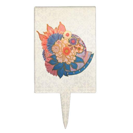 Arte asiático del collage de la flor decoración de tarta