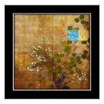 Arte asiático Suzuki Kiitsu, Japón del vintage del Póster