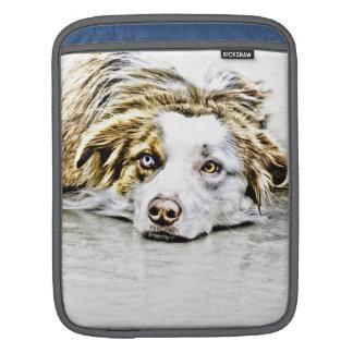 Arte australiano del perro de pastor mangas de iPad