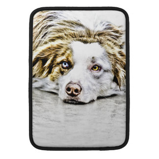 Arte australiano del perro de pastor fundas macbook air