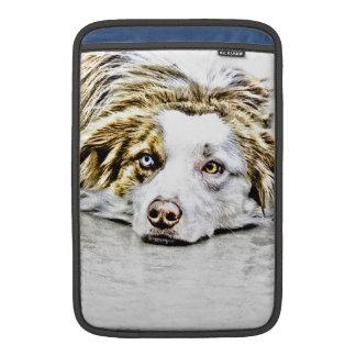 Arte australiano del perro de pastor funda para macbook air