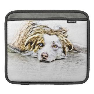 Arte australiano del perro de pastor funda para iPads