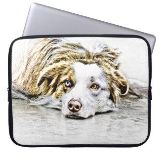 Arte australiano del perro de pastor fundas computadoras