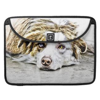 Arte australiano del perro de pastor funda macbook pro