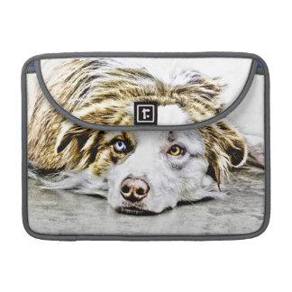 Arte australiano del perro de pastor fundas para macbooks