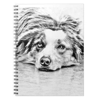 Arte australiano del perro de pastor libro de apuntes