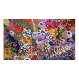Arte australiano del wildflower plantillas de tarjeta de negocio