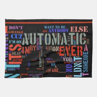 Arte automático #3 del texto de las letras de la toallas de cocina