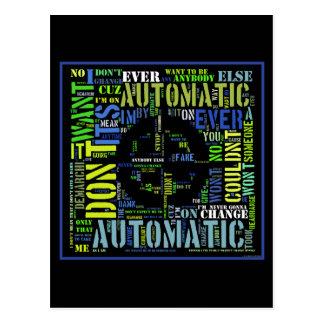 Arte automático design#4 del texto de las letras postales